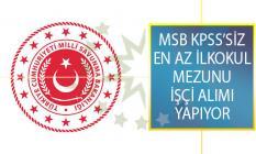 MSB İŞKUR Üzerinden 26 Ağustos'a Kadar Ana Bakım Merkezi Komutanlığına İşçi Alımı Yapıyor