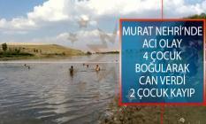 Muş'un Malazgirt İlçesinde Murat Nehrine Giren 4 Çocuk Boğularak Can Verdi, 2 Çocuk Kayıp