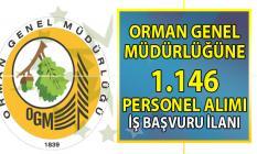 Orman Genel Müdürlüğü KPSS 60 puan ile 1.146 Personel alımı iş başvurusu ilanı!