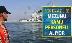 Sahil Güvenlik Komutanlığı En Az Lise Mezunu 14 Kadro İçin 66 Kamu Personeli Alımı Yapıyor