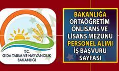 Tarım ve Orman Bakanlığı KPSS Şartsız İŞKUR üzerinden 5 Ağustos'a kadar personel alımı yapacaktır!