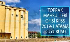 Toprak Mahsulleri Ofisi (TMO) KPSS 2019/1 Merkezi Atama Kapsamında İstenen Evrakları Açıkladı!
