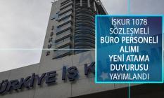 Türkiye İş Kurumu (İŞKUR) Genel Müdürlüğü 1078 Sözleşmeli Büro Personeli Alımı Yeni Yedek Yerleştirme Duyurusu Yayımlandı!