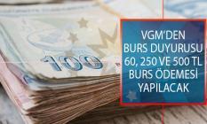 Vakıflar Genel Müdürlüğü (VGM) 2019-2020 İlkokul, Ortaokul Ve Lise Öğrencileri İçin 60, 250 ve 500 TL Burs Başvuru Duyurusu Yayımlandı!
