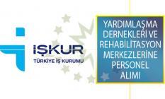 Yardımlaşma Dernekleri ve Rehabilitasyon Merkezlerinde İstihdam Etmek Üzere Çok Sayıda Personel Alımı İŞKUR'dan Yayımlandı!