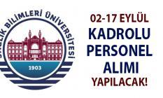 02-17 Eylül arasında Sağlık Bilimleri Üniversitesi'ne KPSS'li ve KPSS'siz personel alımı yapılacak!