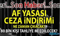 2019 Af Yasası ve Ceza İndirimi Son Dakika! Adalet Bakanı Gül açıkladı!