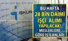 İŞKUR'dan ilkokul, lise ve önlisans mezunu 28 bin işçi alımı ilanları yayınlandı