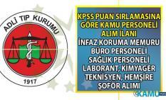 Adalet Bakanlığı 06 Eylül'e kadar infaz koruma memuru, büro personeli, Hemşire, Destel Personeli alımı yapıyor!