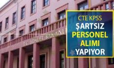 Adalet Bakanlığı CTE KPSS Şartsız Personel Alımı Yapıyor !