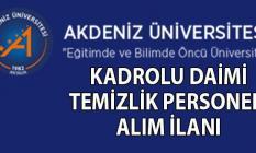 Akdeniz Üniversitesi İŞKUR aracılığı ile 23 Eylül'e kadar en az ilköğretim mezunu kadrolu temizlik  ve güvenlik personeli alımı yapılacak!