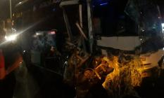 Antalya'da Son Dakika Trafik Kazası! Antalya - Manavgat yolunda yolcu otobüsü ile tur otobüsü çarpıştı