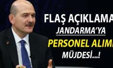 Bakan Soylu Müjdeyi Verdi: Jandarma'ya Personel Alımı Yapılacak
