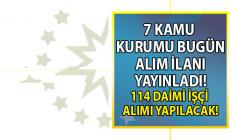 DSİ, TKİ başta olmak üzere 7 kamu kurumu İŞKUR aracılığı ile KPSS'siz 114 daimi işçi alımı yapacak!
