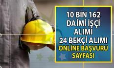 İŞKUR'dan Bekçi alımı ve 10 bin 162 vasıflı vasıfsız daimi işçi alımı ilanı