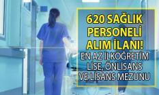İŞKUR 16-24 Eylül arasında ilköğretim, lise, önlisans ve lisans mezunu KPSS şartsız 620 sağlık personeli alımı yapacak!