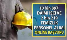 İŞKUR 20-30 Eylül'e kadar vasıflı vasıfsız 10 bin 897 daimi işçi ve 2 bin 219 temizlik personeli alımı yapacaktır.