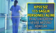 İŞKUR en az ilköğretim, lise mezunu KPSS'siz 115 sağlık personeli alımı yapıyor!