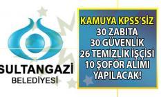 İŞKUR tarafından Belediyeye KPSS'siz 30 zabıta alımı 30 özel güvenlik görevlisi alımı 26 çevre temizlik işçisi ve 10 şoför alımı yapılacağı bildirildi!