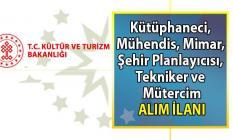 Kültür ve Turizm Bakanlığı kütüphaneci, mühendis, Mimar, Şehir Planlayıcısı, Tekniker, Mütercim alım ilanı