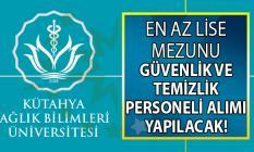 Kütahya Sağlık Bilimleri Üniversitesi İŞKUR aracılığı ile en az lise mezunu 22 daimi işçi alımı yapacak!