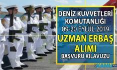MSB Deniz Kuvvetleri Komutanlığı 09-20 Eylül'de uzman erbaş alımı yapacak! Başvuru şartları nelerdir?