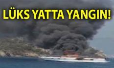 Muğla'nın Marmaris ilçesinde bir yatta yangın çıktı