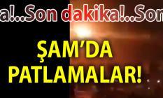 Son Dakika! Suriye'nin başkenti Şam'da peş peşe patlama sesleri