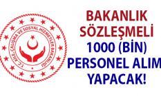 Bakanlık 06 Aralık'a kadar KPSS'li 1000 (ASDEP) personel alımı yapacak!