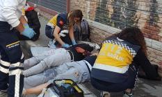 Bursa'da Demirtaşpaşa köprülü kavşakta feci kaza meydana geldi! 4 kişi yaralandı