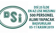 Devlet Su İşleri (DSİ) KPSS'siz en az lise mezunu 500 personel alımı yapacak! DSİ iş başvurusu nasıl yapılır?