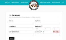 T.C Kimlik Kartı, Sürücü Belgesi ve pasaport çıkarma randevu talebi online başvuru ekranı