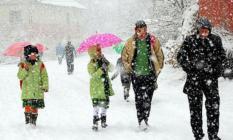 Eskişehir'in Seyitgazi ve Mihalıççık ilçesinde kar yağışı nedeniyle okullar tatil edildi!