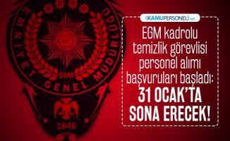 Emniyet Genel Müdürlüğü (EGM) kadrolu temizlik görevlisi personel alımı başvuruları başladı: 31 Ocak'ta sona erecek!
