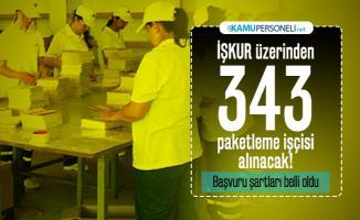 İŞKUR üzerinden paketleme işi yapacak 343 işçi alınacak! Başvuru şartları belli oldu