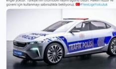 Polis ve Jandarma yerli otomobil görüntülerini giydirip paylaştılar: Sabırsızlıkla bekliyoruz
