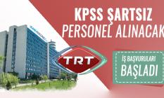 TRT iş ilanlarına yenisi eklendi : KPSS'siz en az önlisans mezunu personel alım ilanı yayınlandı!