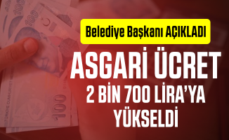 Asgari ücret alanların maaşı 2 bin 700 lira oldu! Adana Büyükşehir Belediye başkanı Resmen açıkladı