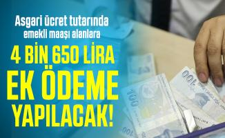 Asgari ücret tutarında emekli maaşı alanlara yıl sonuna kadar 4 bin 650 lira ek ödeme yapılacak! Ziraat Bankası, Vakıfbank, Halkbank...