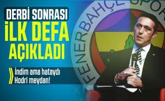 Galatasaray derbisi sonrasında Ali Koç ilk kez konuştu: Hodri meydan!