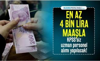 KPSS'siz en az 4 bin lira maaşla personel alımı yapılacak! Başvurular başladı
