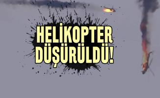 Son dakika helikopter düşürüldü!