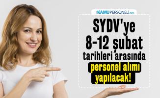 SYDV'ye 8-12 şubat tarihleri arasından personel alımı yapılacak! İŞKUR iş başvuru şartları açıklandı