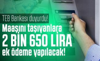 TEB Bankası emekli maaşı alanlara 2 bin 650 lira ek ödeme yapacak! Emekli maaşı promosyon TEB başvuru şartları neler?