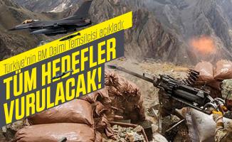 Türkiye'nin BM Daimi Temsilcisi açıkladı: Tüm hedefler vurulacak!