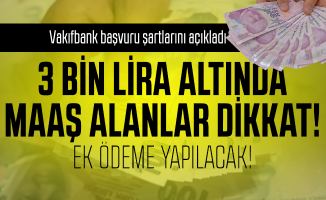 Vakıfbank emekli maaşı promosyon duyurusu yayımladı: 3 Bin lira altında emekli maaşı alan ve alacaklara verilecek emekli maaşı promosyon tutarı belli oldu!