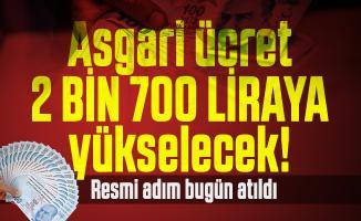 Asgari ücret 2 bin 700 liraya yükselmesi için kanun teklifi verildi!