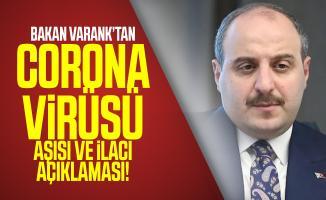 Bakan Mustafa Varank'tan corona virüsü aşısı ve ilacı açıklaması!