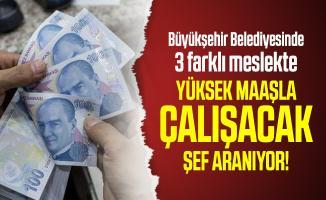 Büyükşehir Belediyesinde 3 farklı meslekte yüksek maaşla çalışacak şef aranıyor!