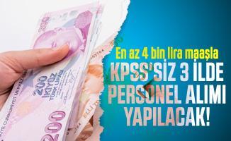 En az 4 bin lira maaşla KPSS'siz 3 ilde finans asistanı personel alımı yapılacak!